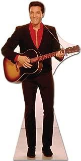 SC241 Elvis Red Shirt w Guitar Cardboard Cutout Standup