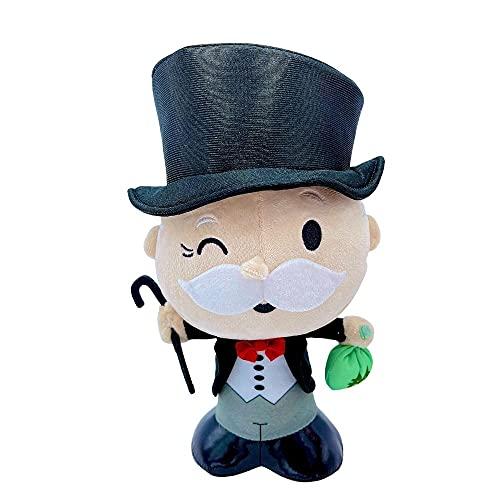 PMS Hasbro, Peluche del Mr Monopoly, 27 cm (10,8'), giocattolo del personaggio del milionario del gioco da tavolo Monopoly