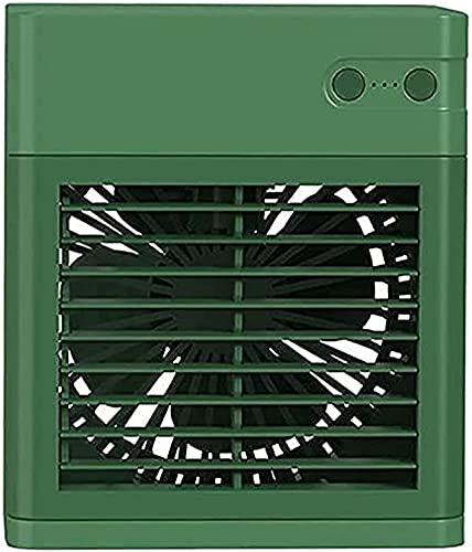 WangYUEQ - Condizionatore d'aria portatile per condizionatore d'aria, mini ventilatore a 3 velocità, per casa, ufficio, esterno (colore: verde)