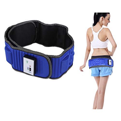 Qkiss Bauchmuskeltrainer Elektrisch Gürtel, Elektrisches vibrierendes Massagegerät Abnehmen Gürtel mit 5 Motoren, Gewichtsverlust Fettentfernung Muskelaufbau Körperformer