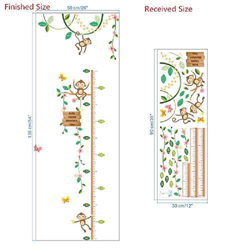 JPDP apen vrienden avontuur hoogte meten muur Stickers voor kinderen kamers vlinder tuin hek hoogte grafiek kwekerij kamer decor,101