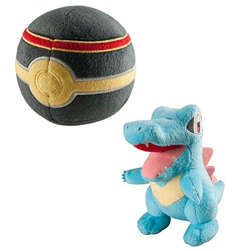 TOMY Pokémon  Plüsch | Karnimani und  Luxury Pokéball - Spielset | Kuscheltier für Kinder ab 3 Jahre | Plüschtier - ideal als Geschenk | Pokémon Figur (ca.20cm),  Plüschball