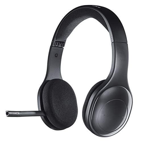 Logitech H800 Cuffie Bluetooth Wireless, Stereo Alta Definizione Con Microfono Cancellazione Rumore, Ricevitore Nano Bluetooth e USB, Multi-Dispositivo, PC/Mac/Smartphone/Tablet, Nero