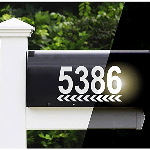 Reflective Mailbox Numbers Sticker Decal Die Cut Classic Style Direction Vinyl Number 3