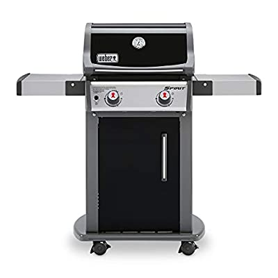 Weber 46110001 Spirit E-210 LP Gas Grill, Black,2 Burner