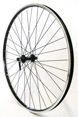 Vuelta 26 Zoll Fahrrad Laufrad Vorderrad Hohlkammerfelge Cut 19 Shimano Deore 610 schwarz für V-Brakes/Felgenbremse