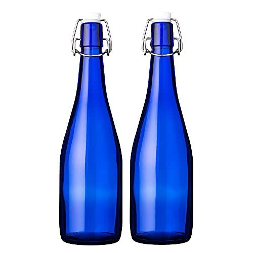 機械瓶 アンカートップボトル 720ml ブルー 2本セット GLASS BOTTLE AT720SWCB2