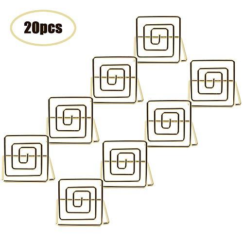 Aimto Blanko-Karten Platzkartenhalter, quadratisch, goldfarben, 20 Stück
