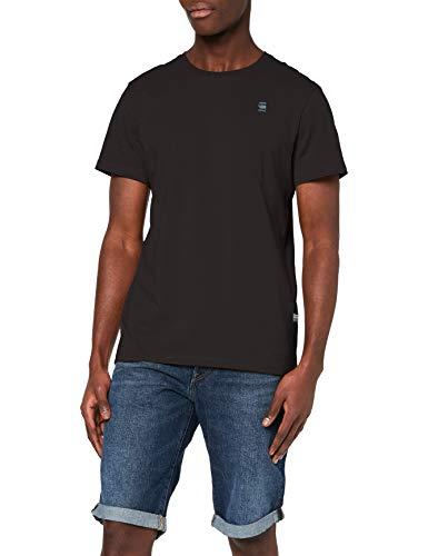 G-STAR RAW Base-s r t s/s Camiseta, Negro (Dk Black 336-6484), M para Hombre