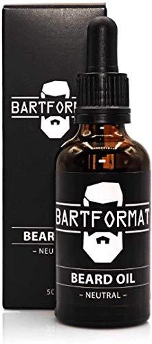 BARTFORMAT Bartöl (50 ml) Geruchsneutral - Bartpflege Öl für einen Weichen Bart - mit Jojoba, Aloe Vera und Kamillen Öl