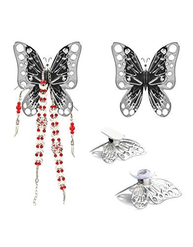 Home Balvi Volare Set van 2 voor sieraden vlindervormige spiegels, kast of aan de muur ABS plastic 8x7cm