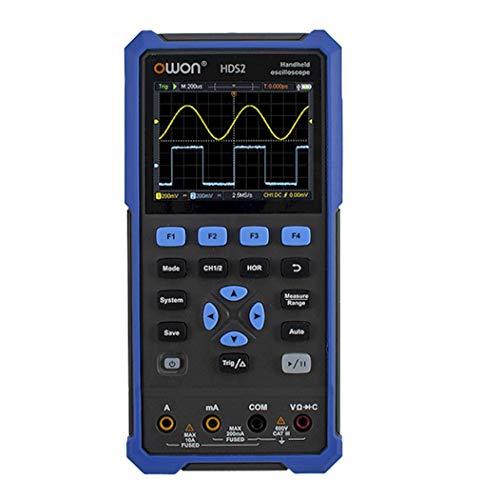 最新 DMM付2CH ハンドヘルドデジタルオシロスコープ70MHz帯域250Ms/s HDS272S 高分解能デジタルマルチメーター任意波形発生器ファンクションジェネレーター付 ハイコストパフォーマンス HDS200シリーズOWON