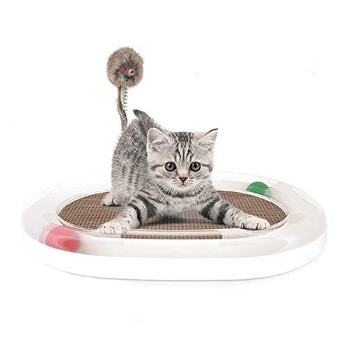 PETCUTE Katzespielzeug Interaktives Katzen Maus Spielzeug Katzenspielzeug mit Ball und Kratzpads für Katzen