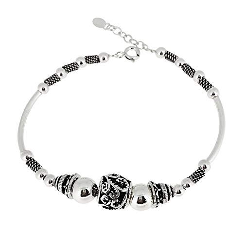 TreasureBay dames, meisjes 925 sterling zilveren armband met bedeltjes