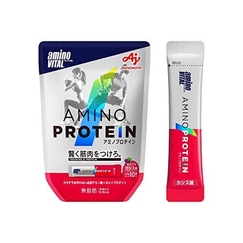 「アミノバイタル」アミノプロテイン カシス味 10本入パウチ