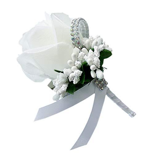 Hochzeit Rose Flower Corsage, Boutonnieres Seide Blume Bräutigam Groomsman Boutonnieres Hochzeit Prom Pack Set