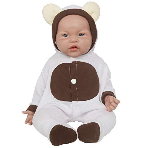 Vollence 17 inch Full Silicone Baby Doll,Not Vinyl Dolls,Realistic Reborn Baby Dolls,lifelike Newborn Baby Doll - Girl