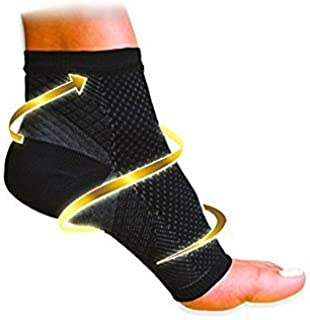Pack of 2 - Compression Foot Ankle Angel Sleeve Anti Fatigue Compression Foot Sleeve Sock for Ankle Swelling Plantar (L/XL)
