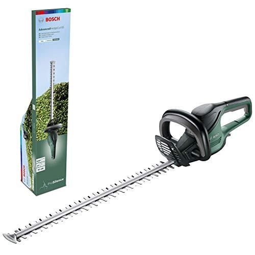 Bosch AdvancedHedgecut 65 - Cortasetos eléctrico (500W, longitud de las cuchillas: 65cm, para setos grandes, apertura de los dientes: 34mm, en caja)