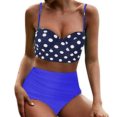 Asalinao Damen Sling Hohe Taille Polka Dot Print ethnischen Wind Badeanzug Bikini