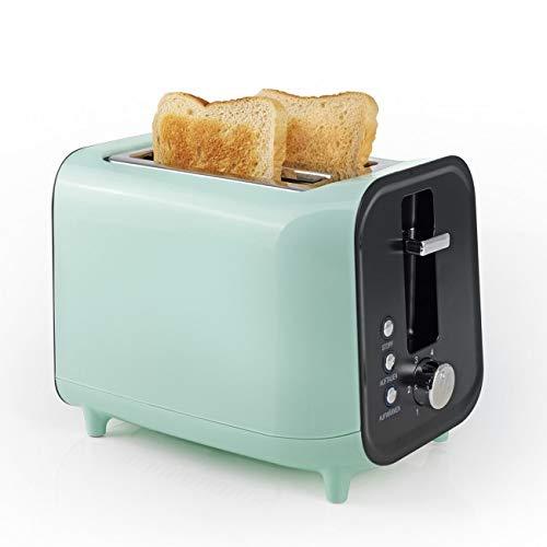 GOURMETmaxx Toaster Retro, Mint/schwarz