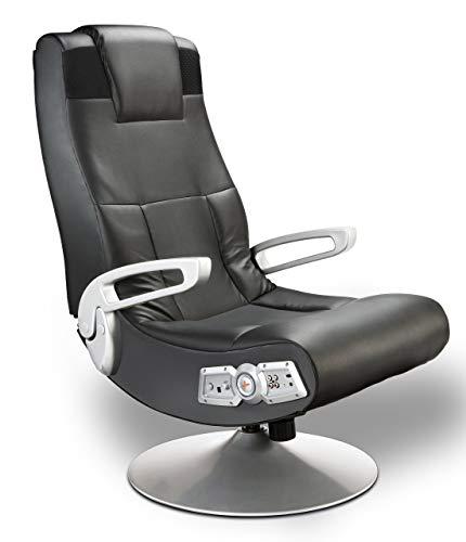Ace Bayou X Rocker 5127401 Pedestal Video Gaming Chair, Wireless, Black (Renewed)
