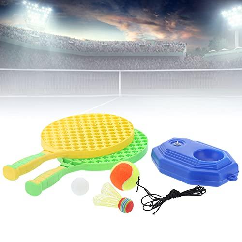 Dilwe Kit de Entrenamiento de Tenis, Raqueta de Tenis para niños para Tenis de Mesa/bádminton Apto para canchas de Tenis, canchas de Baloncesto, Jardines