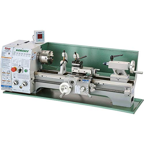 """Grizzly Industrial G0602Z - 10"""" x 22"""" Benchtop Metal Lathe with DRO"""