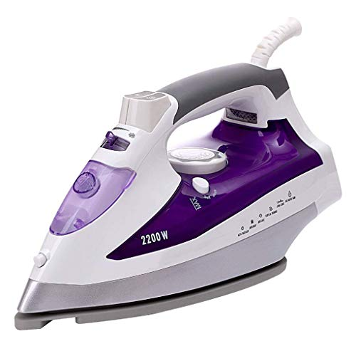 Stoomstrijkijzers Steam Generator Iron Met Non Stick Ceramic Soleplate 2200W 350ml High Capacity watertank Garment Steamer for thuis en onderweg, Purple2200W 350ml Steam strijkmachine 8bayfa