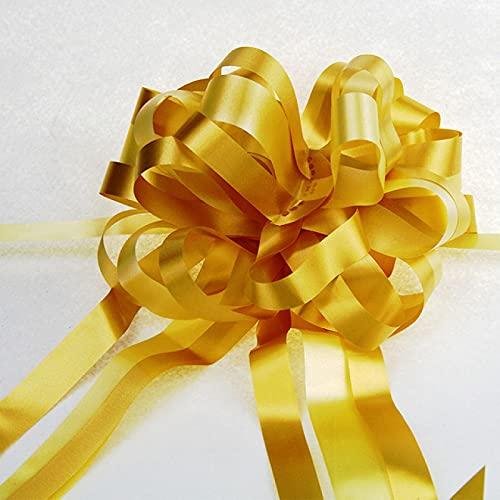 Chrty Cinta de Lazo, 10 Lazos Grandes para Bodas y Fiestas de cumpleaños, Que se Utiliza para Envolver Regalos, Navidad, Bodas, decoración de automóviles