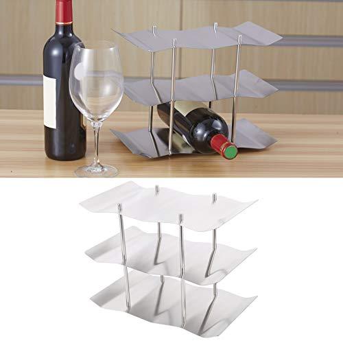 Germerse Estante para Vino Ondulado Soporte para Vino de 3 Niveles Práctica y práctica Cocina antioxidante para el hogar