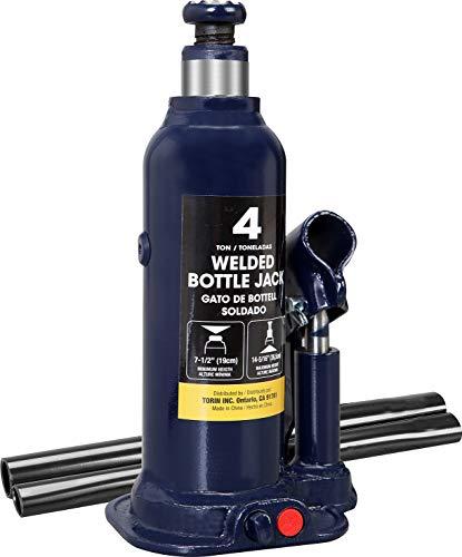 TCE AT90403BU Torin Hydraulic Welded Bottle Jack, 4 Ton (8,000 lb) Capacity, Blue