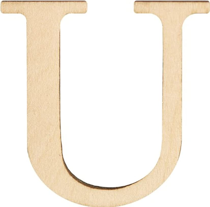 Walnut Hollow Wood Letters and Numbers, 1.5-Inch, U, 2 Per Package