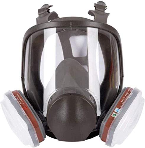 XIAOCUI 7 in 1 Maschera Antigas Maschera a Pieno facciale Respiratore Stessa Maschera per Gas Respiratore con filtri a Carbone Pittura, per Maschera 6800, Nera