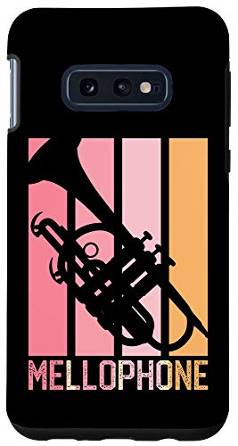 Galaxy S10e Mellophone Vintage Pink Retro 70s 80s Style for Mom Black Case