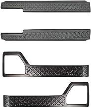 サムライプロデュース スズキ ジムニー JB64W ジムニーシエラ JB74 サイドシルスカッフ & インナードアプロテクションカバー 縞鋼板柄 内装パーツ2点セット ブラック