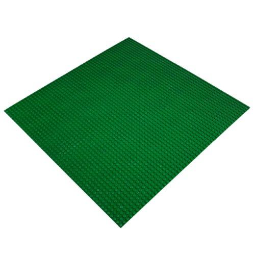 Katara 1672 - Große Bauplatte Grundplatte 40cm*40cm/50x50 Noppen, Kompatibel Lego, Q-Bricks, Papimax, Sluban, Grün