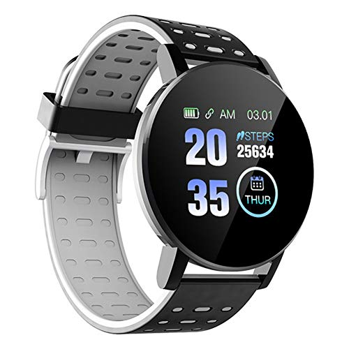 MOLEK Smartwatch, Fitness Armband Tracker Voller Touch Screen Uhr Wasserdicht IP68 Armbanduhr Smart Watch mit Schrittzähler Pulsmesser Stoppuhr Sportuhr Bluetooth für iOS Android Damen Herren