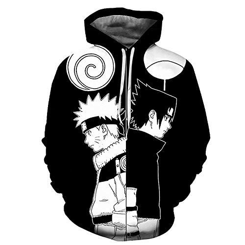 XiaoWeiFC 2021 Naruto Chaqueta con Capucha Hombres 3D Sudaderas con Capucha Akatsuki Abrigo Uchiha Itach Cosplay Disfraz Kakashi Anime Sudaderas Harajuku Hoody-Lw327_M