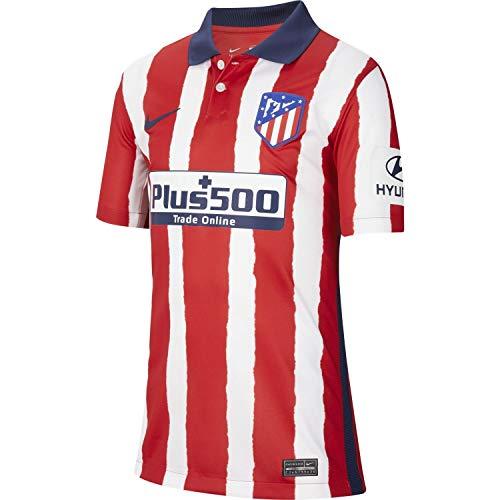 NIKE ATM Y NK BRT Stad JSY SS Hm T-Shirt, Unisex niños, Sport Red/Midnight Navy Full Sponsor, M