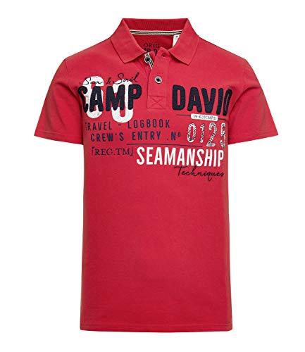 Camp David Herren Poloshirt aus Piquee mit Artwork