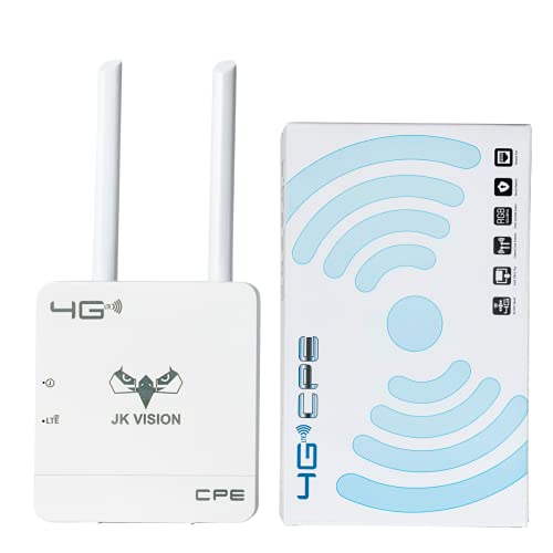 JK Vision Jio Router WiFi 4G Dongle Device, Support All sim Cards, Speed Upto 150Mbps, Support DVR, NVR, WiFi Camera (Airtel, Vodafone, Jio)