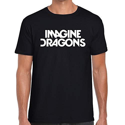 Imagine Dragons – Camiseta de Indie 100% algodón unisex negro M