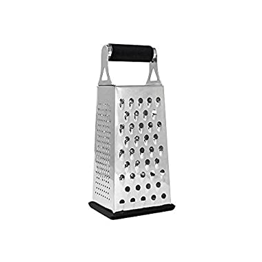 Cheese Grater & Shredder - Stainless Steel - 4 Sided Boxed Grater - Large Grating Surface with Razor Sharp Blades - Perfect to Slice, Grate, Shred & Zest Fruits, Vegetables, Cheeses, Chocolate & More!