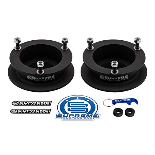 "Supreme Suspensions - 2.5"" Front Leveling Kit for 1994-2013 Dodge Ram 2500 3500 and 1994-2001 Dodge Ram 1500 High-Strength Steel Spring Spacers Lift Kit 4WD"