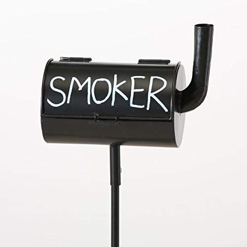 Sturmaschenbecher Smoker, Gartenstab, H 116 cm, L 20 cm, Eisen Sortierung: 1 sort.; Metallart: Eisen; Länge Artikel: 20 cm; Breite Artikel: 10 cm; Höh