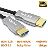 MavisLink Fiber Optic HDMI Cable 75ft 4K 60Hz HDMI 2.0 Cable 18Gbps HDMI Cord Support ARC HDR HDCP2.2 3D Dolby Vision for Blu-ray/TV Box/HDTV / 4K Projector/Home Theater