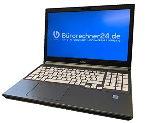 Fujitsu Lifebook E756 - Premium Business-Notebook - Intel Core i5 - 2,40GHz, 500GB SSD, 8 GB RAM, 15,6 Zoll 1920x1080 Full-HD LED-Display, Windows 10 Pro - (Zertifiziert und Generalüberholt)