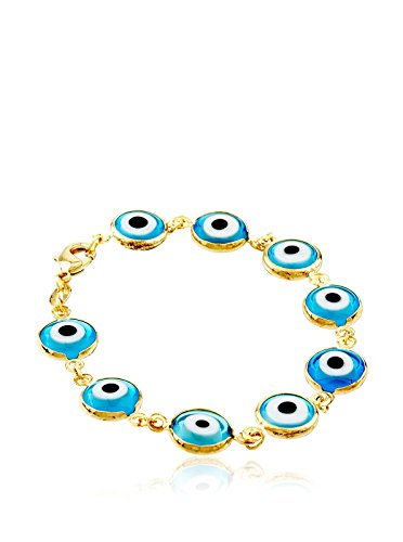 Córdoba Jewels | Pulsera en goldfilled Laminado de Oro 14/20. Diseño Ojo Turco