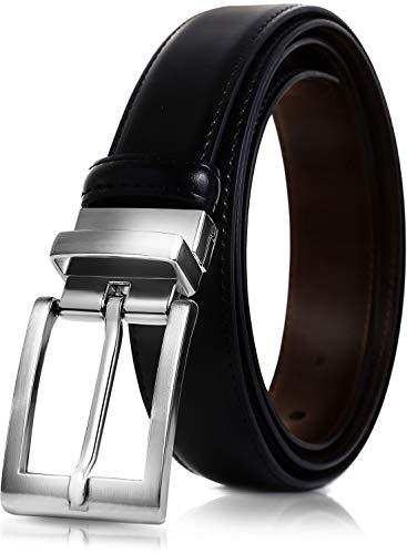 SAVILEMAN ベルト メンズ ビジネス 紳士 リバーシブル おおきいサイズ レザー (ブラック ブラウン 1)